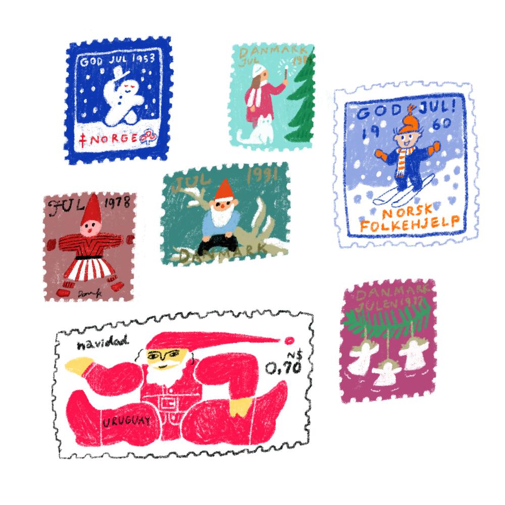 クリスマス切手①