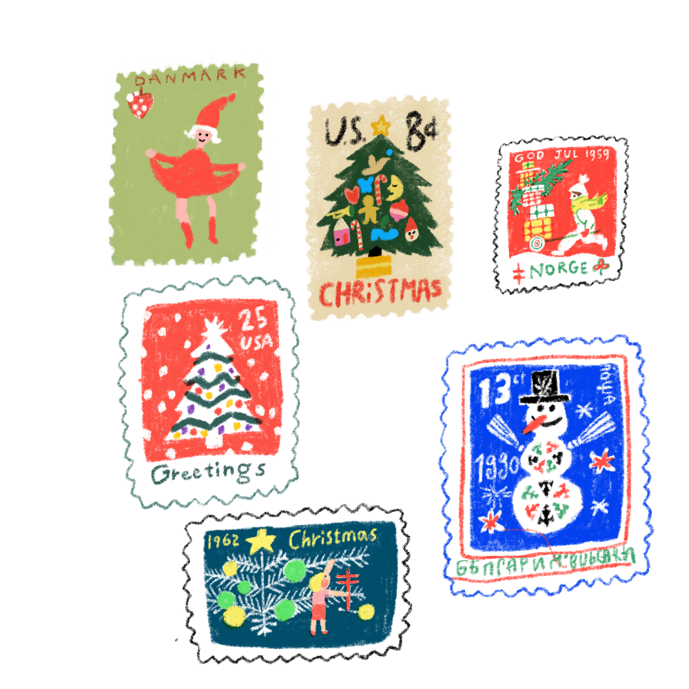クリスマス切手②