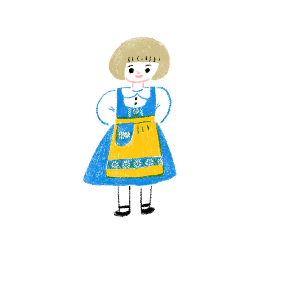スウェーデンの女の子