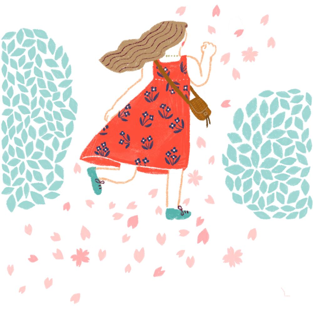 春風ワンピース